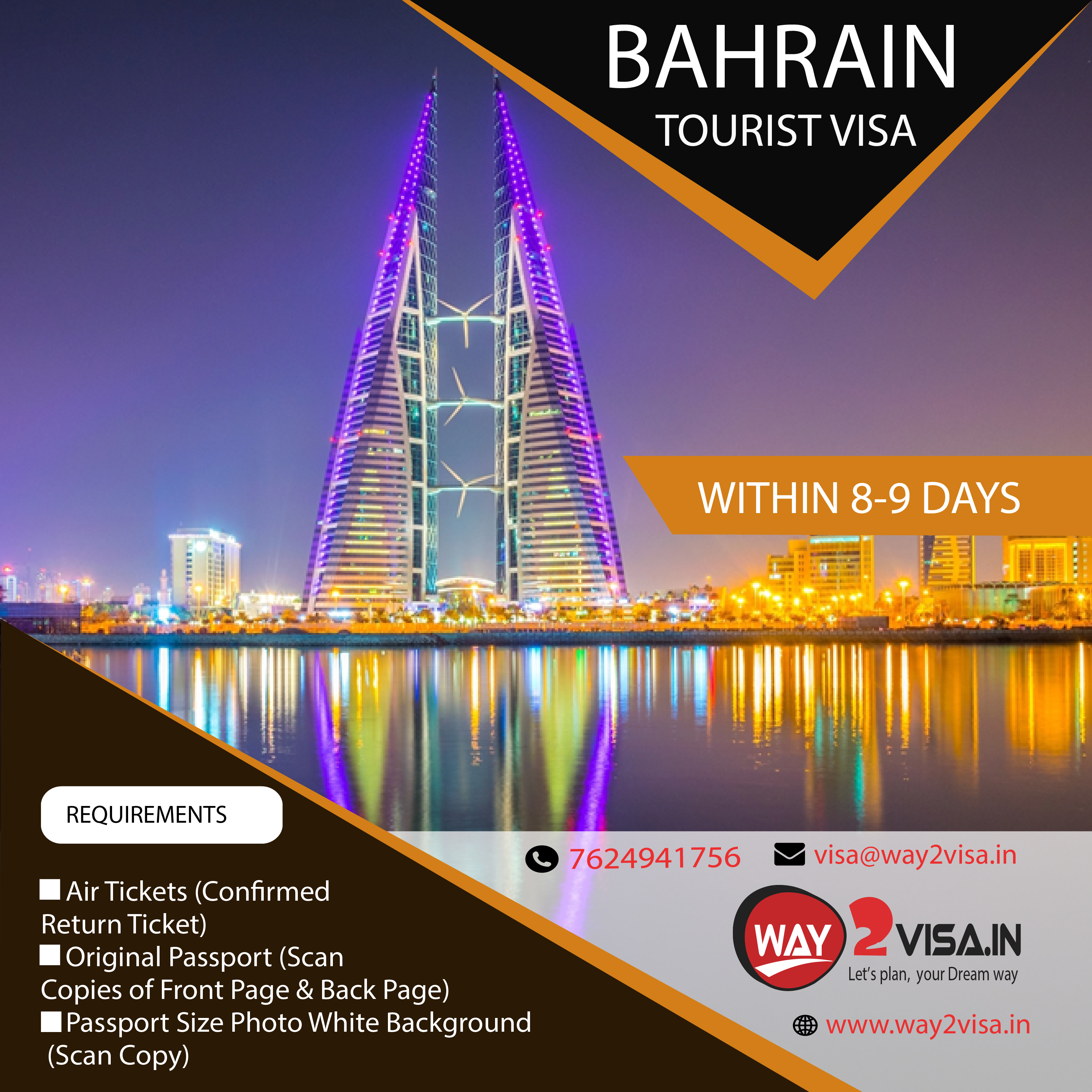 Way 2 Visa Consultants Bengaluru | Bahrain work, employment